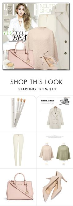 """YESSTYLE.com"" by monmondefou ❤ liked on Polyvore featuring Grace, Ashlee, River Island, JUSTONE, Michael Kors, Beauty, koreanfashion and yesstyle"