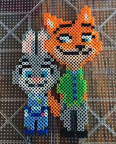 Zootopia perler beads by herc78