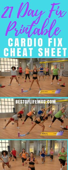 Take your 21 Day Fix workout with you wherever you go with this printable 21 Day Fix Cardio Fix cheat sheet that is complete with workout moves and timing. 21 Day Fix Workouts 21 Day Fix Workouts, Easy Workouts, At Home Workouts, 80 Day Obsession Workout, No Excuses Workout, Workout Sheets, Best At Home Workout, Workout Videos, Workout Tips