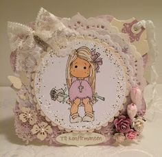 Heidis kortlagingsblogg: Rosa jentekort 3 Magnolias, Decorative Plates, Teddy Bear, Animals, Design, Home Decor, Animales, Homemade Home Decor, Animaux