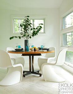 Dining room | Patrick Mele via Timothy Kolk Photography