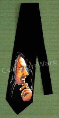 BOB MARLEY drawing 4 CUSTOM ART UNIQUE TIE   Each necktie is individually hand-painted, a true and unique work of art indeed!  To order this, or design your own custom tie, please contact us at info@collectorware.com, or visit http://www.collectorware.com/neckties-bobmarley_andrelated.htm