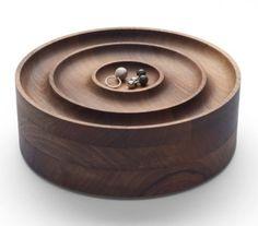 Stylish Walnut Jewellery Case by Saskia Diez for e15