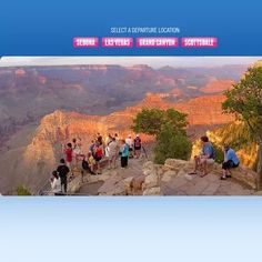 The Grand Canyon is home to some of the most incredible tour packages visitors can embark on. Tours provide detailed information about the National Park and allow you to see the natural beauty and wonder of the Canyon while being guided by experts. Grand Canyon Tours, Grand Canyon South Rim, Grand Canyon National Park, Adventure Holiday, Adventure Tours, Adventure Travel, American Attractions, Grand Canyon Pictures, Most Visited National Parks