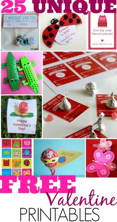 Top 25 Cute Free Valentine's Day Card FREE Printables