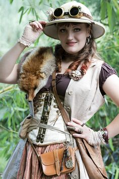 rufflesandsteam:  Steampunk Explorer @ Elf Fantasy Fair Arcen 2013 by Lennart Tange on Flickr.  So on Friday the Steampunk Expeditions Gesel...