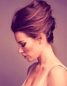 Beehive Updo Hairstyle; Evangeline Lily. A beautiful modern take on a 70s classic