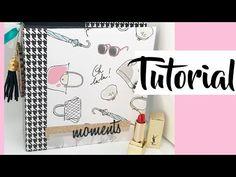 Tutorial: minialbum LOVE, proyecto para Scraperas Unidas - YouTube Mini Scrapbook Albums, Mini Albums, Snail Mail Flipbook, Mini Books, Happy Planner, Scrapbooks, Paper Crafts, Planners, Creative