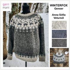 Nordic Sweater, Men Sweater, Icelandic Sweaters, Knitting Paterns, Fair Isle Knitting, Sweater Design, Handicraft, Wool, Pattern