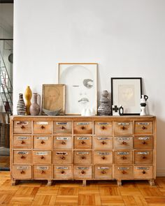 cute sideboard with decoration