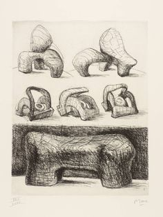 Artwork page for 'Projects for Hill Sculpture [from the book 'Henry Moore' by Ionel Jianou]', Henry Moore OM, CH, 1969 Abstract Sculpture, Sculpture Art, Sculpture Projects, Metal Sculptures, Bronze Sculpture, Artist Art, Artist At Work, Henry Moore Drawings, Henry Moore Sculptures