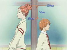 Risa Koizumi and Atsushi Ōtani, from the anime Lovely Complex Anime Shojo, Manga Anime, Gekkan Shoujo, Anime Art, Haikyuu Anime, Anime Guys With Glasses, Hot Anime Guys, I Love Anime, Awesome Anime