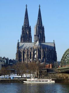 "Kölner Dom | Flickr - Photo Sharing!  in World War 2   ( one. -- or two human generations ago, mid century 1944ish) this was NOT bombed. The city was obliterated, a 10th century building where we had a dinner, and this huge Cathedral on the RHEINE RIVER was spared, on purpose, by FDR.. Leaving the Nazis a Church only. The Church contains a gold 'coffin' of the ""We Three Kings"" of Christmas -- the Manger scene is all Blonde Blue Eyed people. It's more a tourist scene than church."