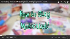 How to Stay Motivated: Setting Goals, Finding Inspiration, & More! {+Giveaway Winner!} http://christiswrite.blogspot.com/2014/03/how-to-stay-motivated-setting-goals.html