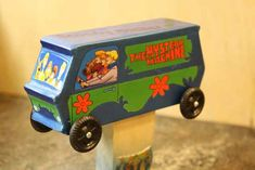 Mystery machine pinewood derby car