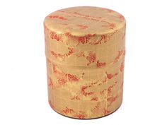 Bursting with Red and Gold Tea Canister