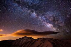 'Milky Way' over the Rockies, Colorado.