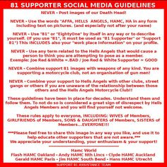 A must read for the real Supporter of the Beloved 81,read it and show Respect by respecting these rules,these guidelines/rules have been in place for decades,Thanks...