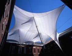 sunshade structure Shell Structure, Membrane Structure, Fabric Structure, Tensile Structures, Facade Lighting, Parametric Design, Canopy Design, Commercial Design, Landscape Architecture