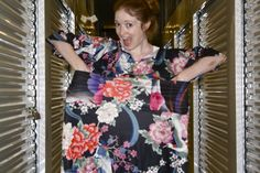 This amazing young lady takes ugly old lady dresses and upcycles them into amazing creations!!!
