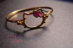 Hello Kitty gold bracelet #HelloKitty #Jewelry