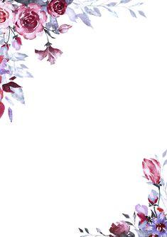 Фото, автор ✿Lili@ ✿ на Яндекс.Фотках Watercolor Flower Background, Flower Background Wallpaper, Flower Backgrounds, Wallpaper Backgrounds, Wallpapers, Scrapbook Background, Framed Wallpaper, Watercolor Drawing, Floral Border