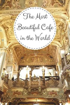 The most beautiful cafe in the world. Guess where? Just wait until you see more pictures on While I'm Young travel blog. Budapest travel tips | Luxury in Budapest | Art deco | Interior design | Architecture | Luxury hotels | Europe travel