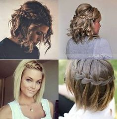 Easy Hairstyles For Short Hair Enchanting Messy #curls And #braids For Short Hair Hairstyle Ideas Hair
