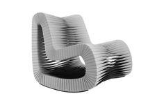 B2063GR / Seat Belt Rocking Chair, Grey/Black