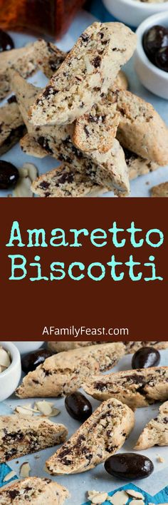 Amaretto Biscotti - Quick and easy to make with a uniquely delicious flavor. So good!