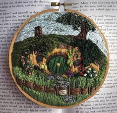 The Hobbit Shire Hand Embroidery Hoop
