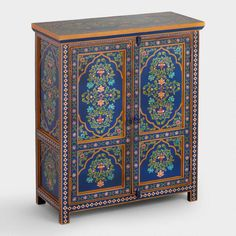 Hand embellished with traditional floral motifs, our two& cabinet is crafted in India by artisans who have been painting together for generations. A fresh update for the entryway or dining room, it blends gorgeous style with handy storage. Bohemian Furniture, Country Furniture, Home Decor Furniture, Cheap Furniture, Antique Furniture, Living Room Furniture, Furniture Stores, Indian Furniture, Modern Furniture