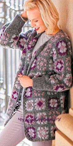 65 Ideas Crochet Granny Square Cardigan Pattern Sleeve For 2019 Crochet Jacket Pattern, Granny Square Crochet Pattern, Cardigan Pattern, Crochet Cardigan, Crochet Granny, Crochet Patterns, Crochet Shrugs, Shrug Pattern, Crochet Diagram