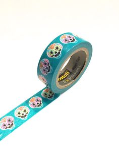 Sugar Skull Day of the Dead Washi Tape by PlayingWithColor2