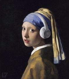 "Johannes Vermeer Girl with a Pearl Earring, oil on canvas, cm × 39 cm, Mauritshuis, The Hague. This ""Mona Lisa of the North"" or the ""Dutch Mona Lisa"" is one of Dutch painter Johannes Vermeer's masterworks and uses a pearl earring for a. Johannes Vermeer, Tim's Vermeer, Most Famous Paintings, Classic Paintings, Famous Artwork, Beautiful Paintings, Classic Artwork, Art History, Painting Art"