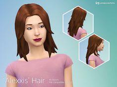 My Sims 4 Blog: LumiaLover Sims Alexxis Hair for Females
