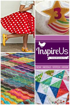 Inspire Us Thursdays: Sew Needle Stitch Hook, May 29 Features! | Come browse through a collection of wonderful links dedicated to fiber on The Inspired Wren.