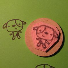 Puppy - hand carved rubber stamp | Flickr - Photo Sharing!