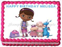 """DOC MCSTUFFINS Edible image cake topper decoration - Quarter sheet 10.5"""" X 8"""" / 7.5"""" round"""