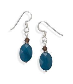 Agate and Crystal Earrings