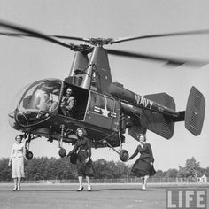 Flight tests of Kaman helicopter designed for USAF, Navy and Marines. September 1958. Photographer: Robert W. Kelley