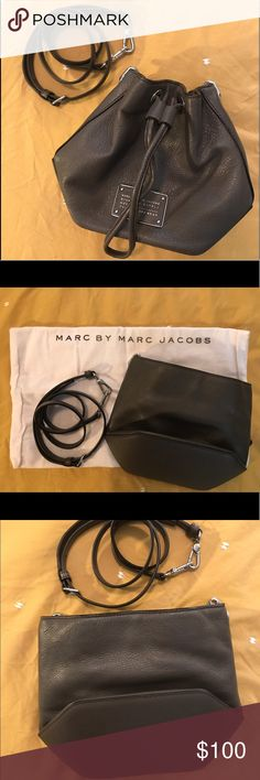 "Marc Jacobs Too Hot to Handle Bag Dark Grey Marc Jacobs bag. Barely used and comes with dust bag! Measurements: 7.8""H x 5.8""W x 4.8""D. Marc by Marc Jacobs Bags Crossbody Bags"