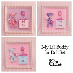 My Li'l Buddy for Doll Set 3色展開です . #playroom伊勢丹 #cerisestore #cerise #miniatureteddybear