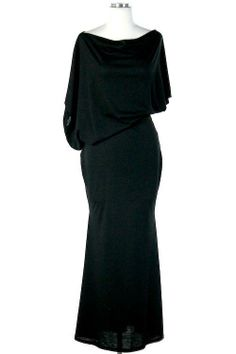 UrbanSew - Black Off Shoulder Maxi, $43.00 (http://www.urbansew.com/black-off-shoulder-maxi/) #dress #maxi #asymmetrical