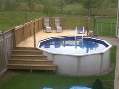 decks for above ground pools above ground pool deck ideas pictures - Amenagement Autour D Une Piscine Hors Sol