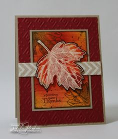 Vintage Leaves many thanks card by Lynn Weiss