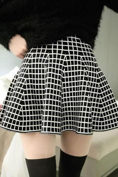 Plaid High Waisted Ruffled Hem Skirt