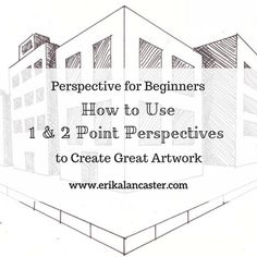 Perspective for Beginners: How to Use 1 and 2 Point Perspectives Interior Design Styles Quiz, Interior Design Sketches, 2 Point Perspective Drawing, Perspective Art, Sketching Tips, Urban Sketching, Drawing Techniques, Drawing Tips, Drawing Board