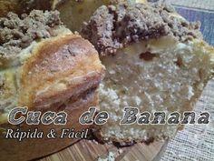 Como fazer uma deliciosa Cuca de Banana Rápida e Fácil NA BATEDEIRA ARNO ELIPSE 3D!! - YouTube