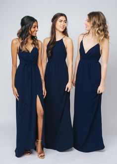 Navy is the new black. - Park and Fifth Co. Mix and Match Bridesmaids dresses in navy. With virtual fittings shopping online has never been so easy!